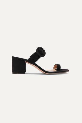 Gianvito Rossi Suede Sandals - Black
