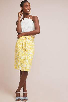 Anthropologie 52 Conversation By Colloquial Button-Front Pencil Skirt
