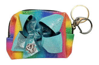 Impulse JoJo Siwa Signature Rainbow Shimmer Small Purse With Bow Keychain.