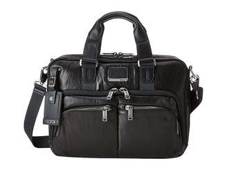 Tumi Alpha Bravo Albany Leather Slim Commuter Brief