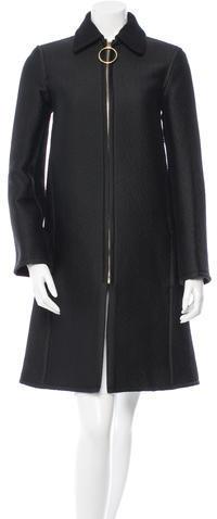 CelineCéline Wool Knee-Length Coat