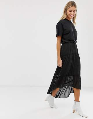 Minimum Moves By tiered maxi skirt