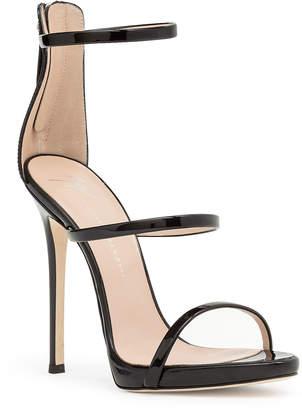 db129d1bb037b Giuseppe Zanotti Harmony 120 black patent sandal
