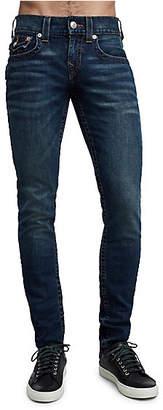 True Religion Skinny Fit Orange Stitch Jean