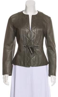 Max Mara Lightweight Leather Jacket