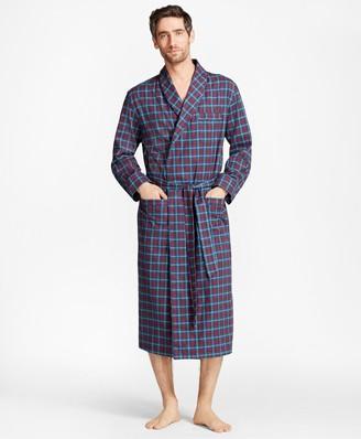 Brooks Brothers Alternating Plaid Robe