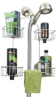 mDesign Hand Held Shower Head Bathroom Caddy for Shampoo