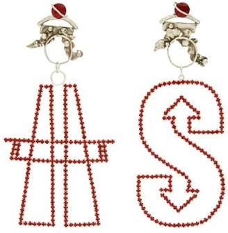 Art School - X Amy Rodriguez Pair Antenna Earrings - Womens - Silver