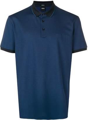 HUGO BOSS contrast trimmed polo shirt