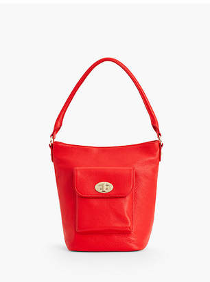 Talbots Turnlock Bucket Bag - Pebbled Leather