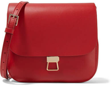 Theory - Perry Leather Shoulder Bag - Red