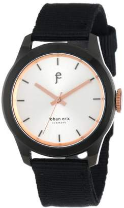 Johan Eric Men's JE1400-13-001.16 Naestved Young Sporty Black Ion-Plated Coated Stainless Steel Canvas Strap Watch