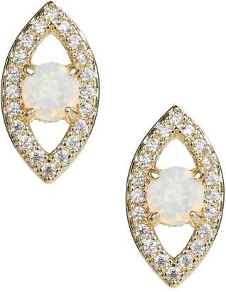 Melinda Maria Evil Eye Stud Earrings