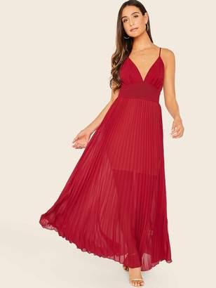 Shein Empire Waist Pleated Slip Dress
