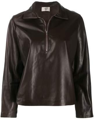 Maryam Nassir Zadeh Canoe leather sweatshirt