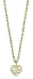 Finn Tiny Diamond Heart Necklace - Yellow Gold