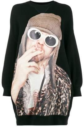 R 13 Kurt Cobain プリント スウェットシャツ