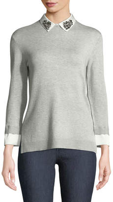 Love Token Axel Collared Twofer Sweater