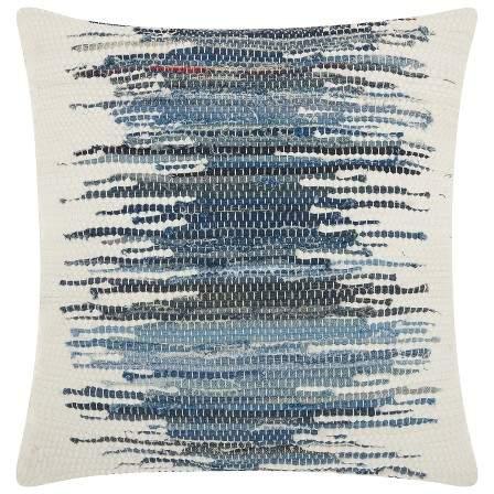 Mina Victory Blue Stripe Throw Pillow