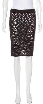 Dolce & Gabbana Crochet Knee-Length Skirt