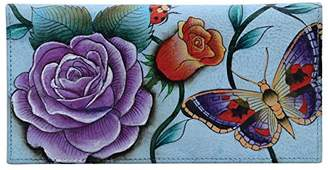 Anuschka Hand Painted Leather Women's Checkbook Cover
