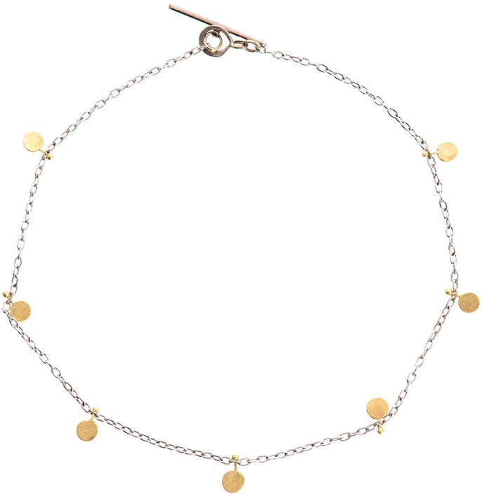 SIA Taylor Big dots white and yellow-gold bracelet
