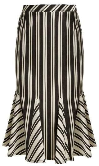 Crocus striped wool-blend skirt