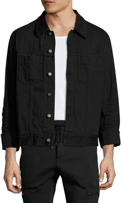Maison Margiela Solid Spread Collar Denim Jacket