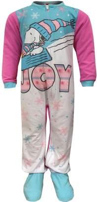 Peanuts Snoopy And Woodstock Sleeper Footie Pajama for girls (7/8)