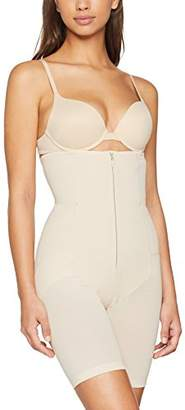 Annette Women's Faja Extra Firm Waisted Mid Thigh Shaper with Invisible Zipper