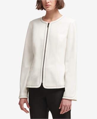 DKNY Contrast-Stitch Jacket