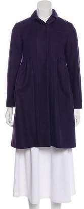 Miu Miu Wool Knee-Length Coat