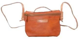EAZO - Zip Open Cross Body Leather Bag in Brown