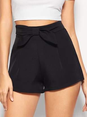 Shein Zip Back Bow Shorts