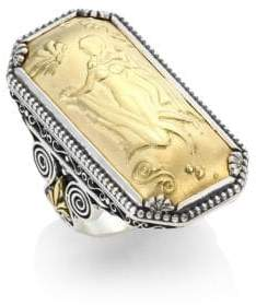 Konstantino Gaia 18K Yellow Gold Rectangular Ring