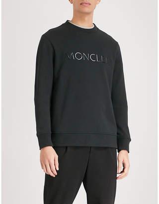 Moncler Logo-print cotton-jersey sweatshirt