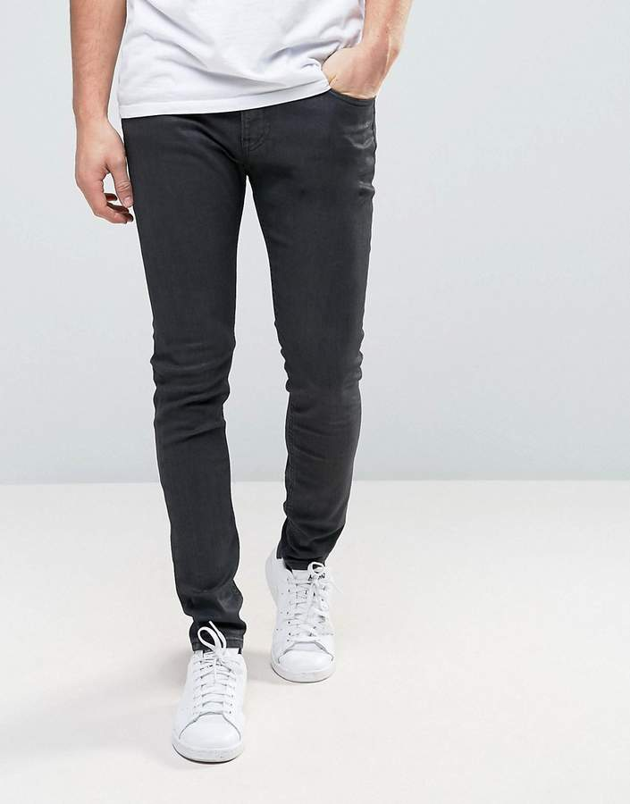 Lee Lee Malone Super Skinny Jean Black Coated