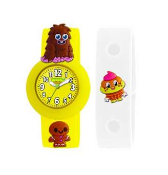 Moshi Monsters Moshi Monster Children's Quartz Watch with Yellow Dial Analogue Display and Yellow Silicone Strap AMMFU-0001