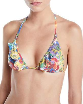 Stella McCartney Iconic Prints Padded Triangle Bikini Top