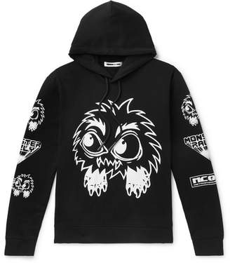 McQ Monster Rally Printed Loopback Cotton-Jersey Hoodie