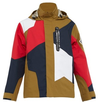 Moncler 2 1952 - Patchwork Hooded Jacket - Mens - Brown Multi