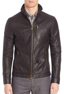 John Varvatos Slim-Fit Leather Jacket