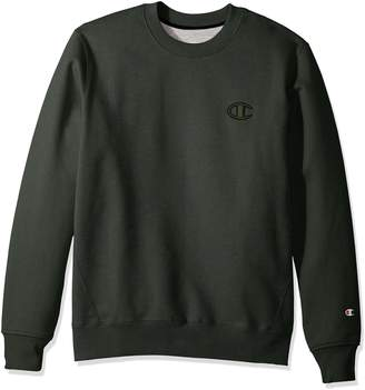 Champion Life Men's Pullover Super Fleece Sweatshirt, Granite Heather Script