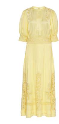 byTiMo Satin Lace Midi Dress Size: XS
