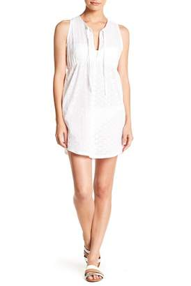 Jordan Taylor Tie Neck Sleeveless Dress