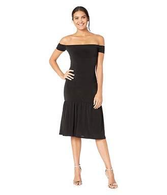 BCBGeneration Off Shoulder Knit Midi Dress YDM6210308