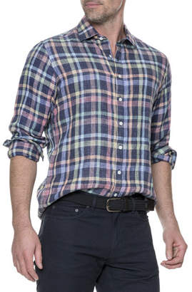 Rodd & Gunn Men's Stirling Plaid Linen Shirt