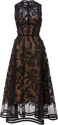 Elie Saab A-Line Lace Midi Dress