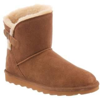 BearPaw Margaery Suede Genuine Sheepskin Footbed Boot