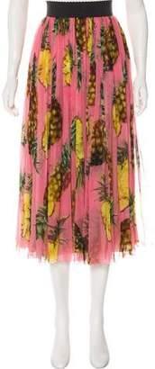 Dolce & Gabbana 2017 Pineapple Skirt